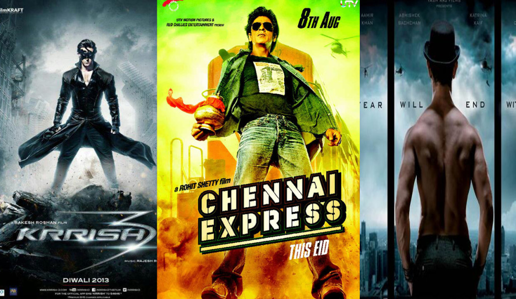 Dhoom 3 vs Chennai Express vs Krrish 3 vs Ek Tha Tiger Collections (Box Office Collections)