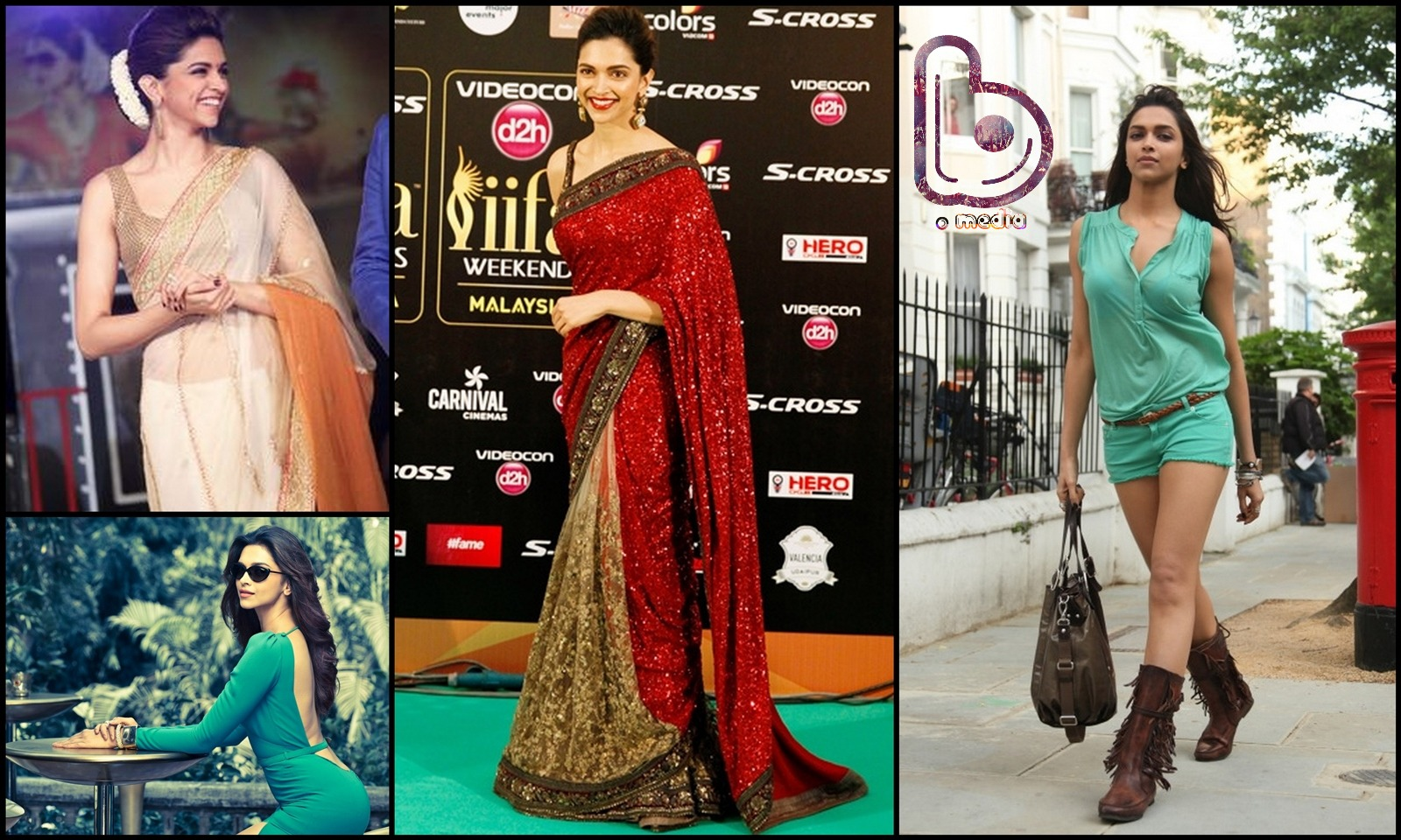 Bollywood Actresses who Rock both the Indian and the Western look!- Deepika
