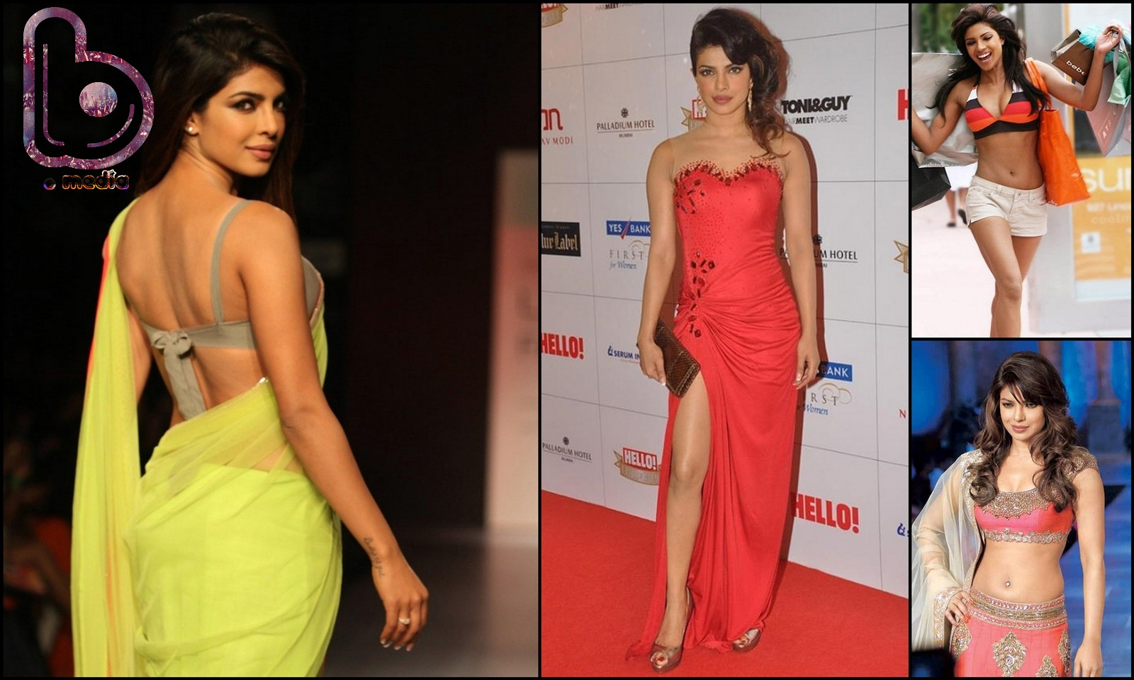 Bollywood Actresses who Rock both the Indian and the Western look!- priyanka