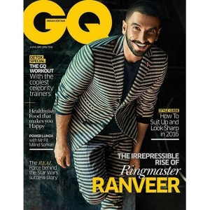 Ranveer Singh GQ India's January 2016 issue